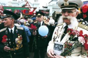 Ruští veteráni, Moskva, foto Jan Rybář